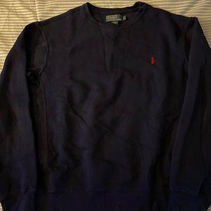 Blue (red horse) Polo sweatshirt